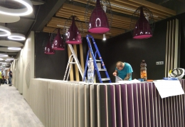 Монтаж внутреннего освещения офиса «Сбербанка»
